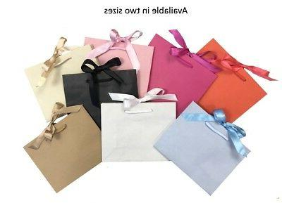 Recycled White Medium Ribbon Gift Bags Boutique Shop Events & Wrap