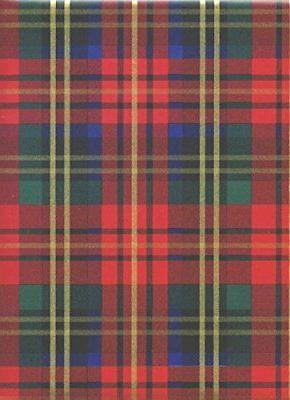 Red Christmas Plaid Heavy Embossed Extra Wide Gift Wrapping
