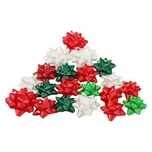red decorative gift bows