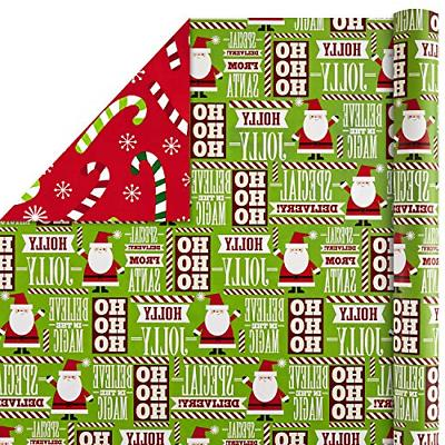 Hallmark Reversible Wrapping Paper Bundle, Trees