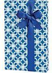 Royal Blue & White Geometric Links Geo Gift Wrap Wrapping Pa