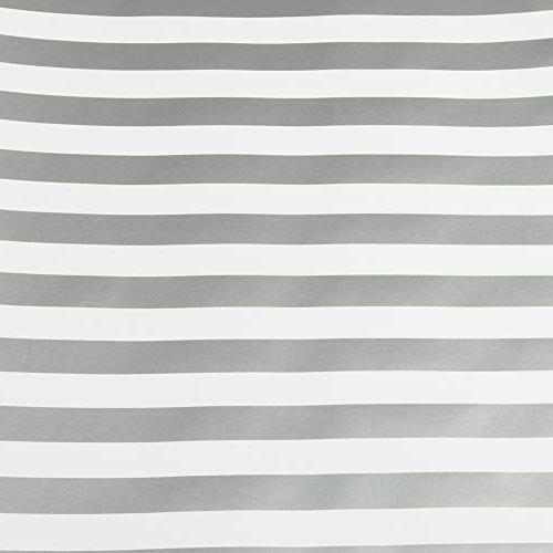 JAM PAPER - Wrapping Paper - 25 Sq - Silver White Stripes - Individually