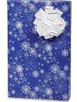SNOWY NIGHT SNOWFLAKE Christmas Holiday Gift Wrap Paper - 16