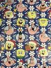 SpongeBob Square Pants Dark Blue Christmas Gift Wrapping Pap