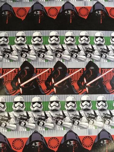 Disney STAR WARS Christmas Gift Wrapping Paper 70 sq ft roll