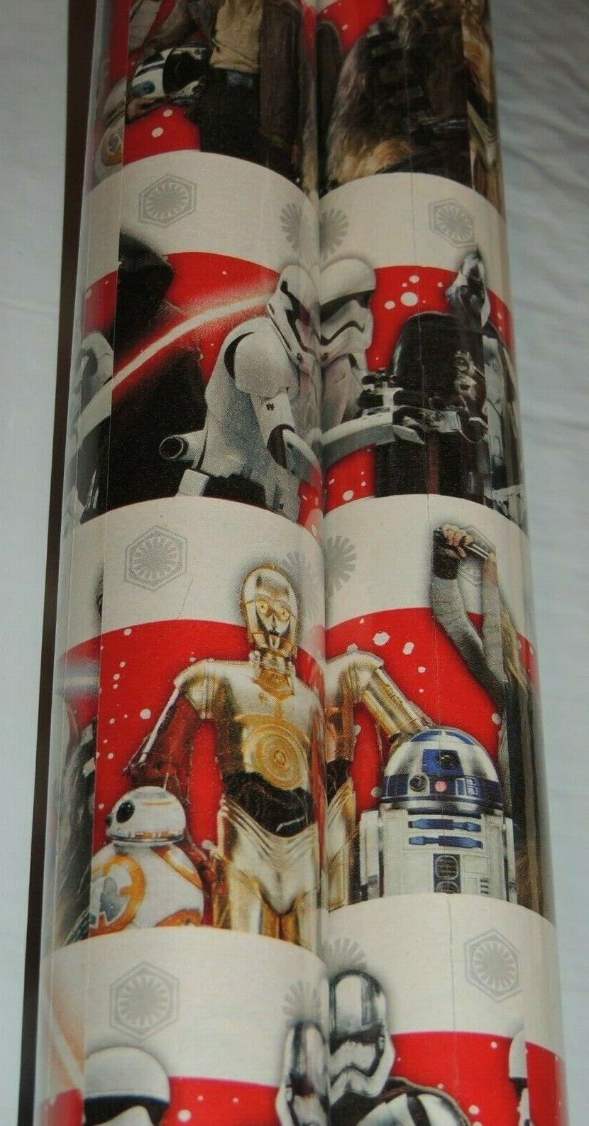 star wars white wrapping paper 40 sq