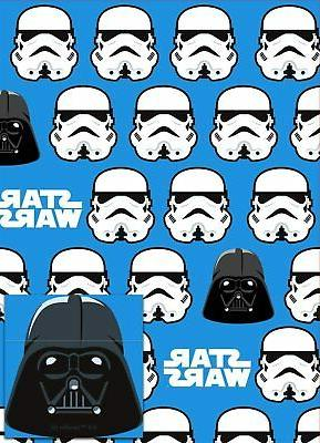 STAR WARS STORMTROOPER WRAPPING PAPER by HALLMARK 2 SHEET &