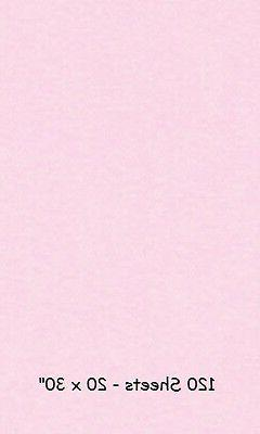 """Tissue Pale Pink 20"""" x 30"""" 120 Large Sheets Wrap Wrapping Retail"""