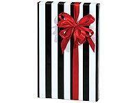 Trendy Brand New Black & White Stripes Wrap Wrapping Paper R