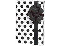 Trendy Brand New Polka Dot White & Black Gift Wrap Wrapping