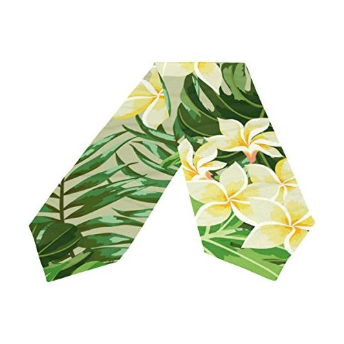 Tropical Floral Table Runner, for Party, Summer & Picnic Home Decor, 13 inch