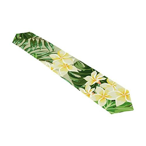 tropical floral print rectangle table