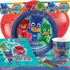 UK PJ MASKS Birthday Party Tableware Boys & Girls Plates Cup