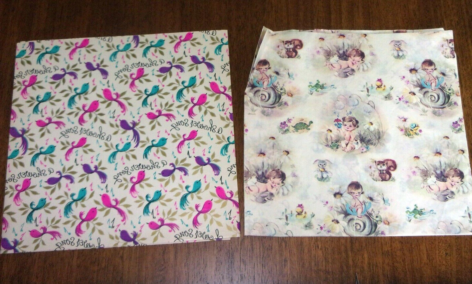 Vintage Shower Gift Wrap Forest of 2