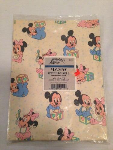 vintage disney baby mickey mouse gift wrapping