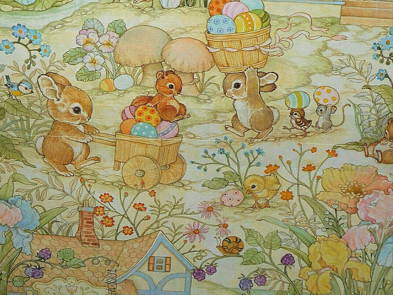"VINTAGE EASTER WRAPPING 2 20"" 30"", NEW PACKAGE, HALLMARK"