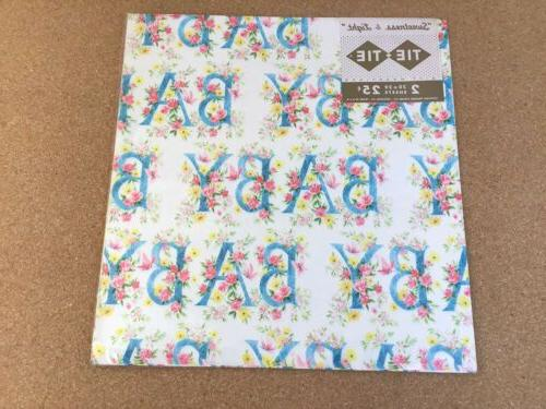 Vintage Wrapping Paper BABY - Pink Blue 4