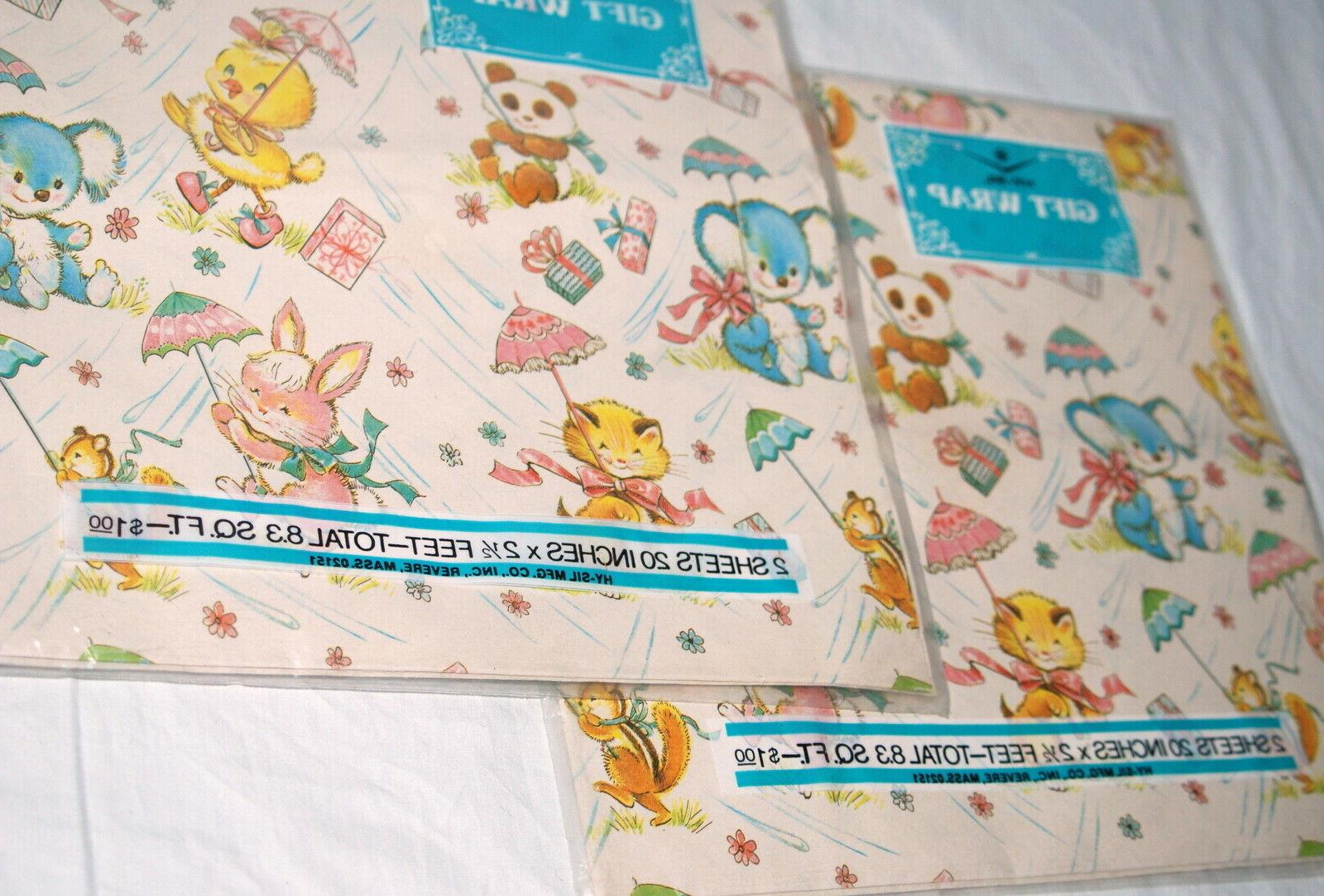Vtg Gift 2 Paper Ducks Mice Baby Shower
