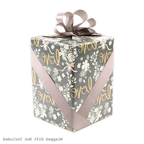 Hallmark Wedding Wrapping with Cut Lines,