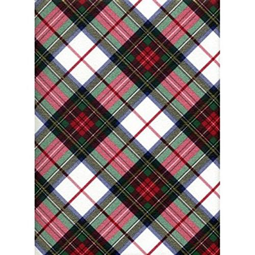 white dress tartan plaid heavy