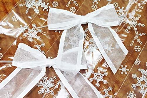 Saybrook with Organza Set of Gussetted 11x5x3 with Clear