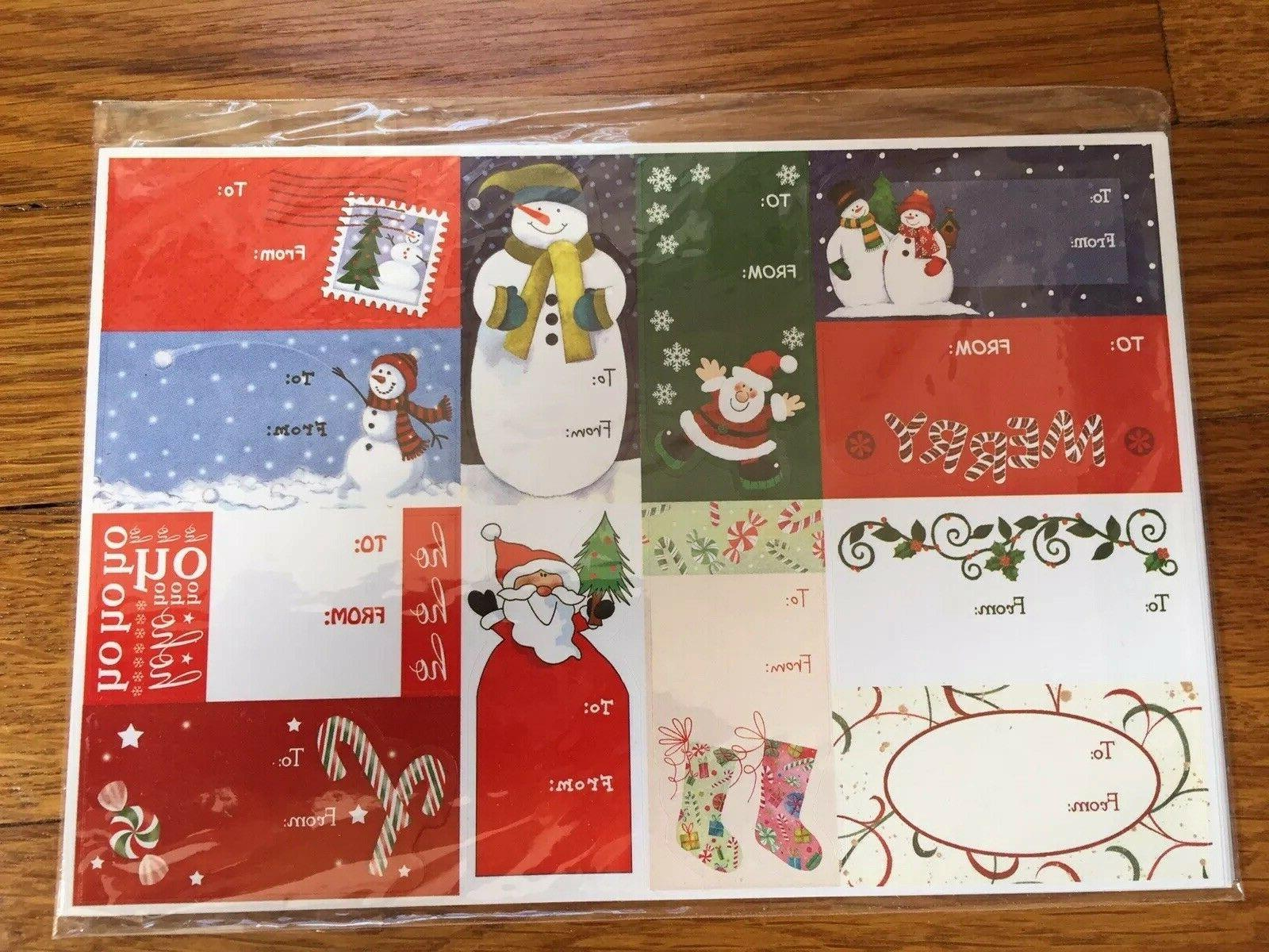 Sally Foster Paper Christmas Stickers Bows New