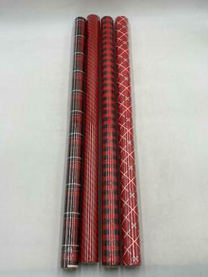 wrapping paper kit with gridlines bows
