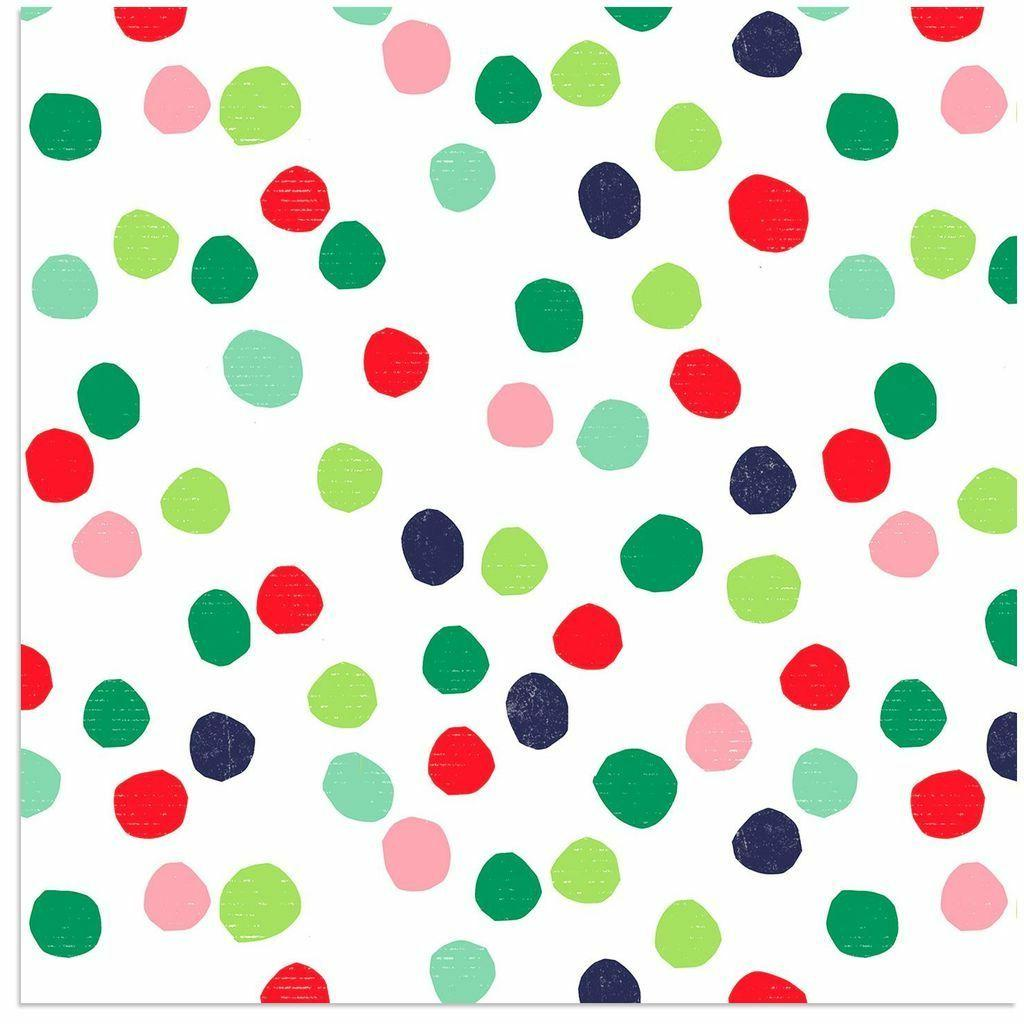 wrapping paper roll colorful playful watercolor dots