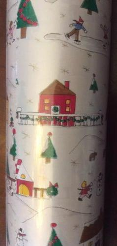 caspari wrapping paper Winter Wonderland