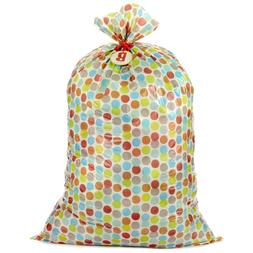 Hallmark Large Plastic Gift Bag Baby Shower, Multicolor Dots