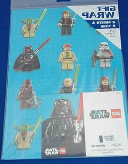 Lego Star Wars Gift Wrap 2 Sheets 2 Tags