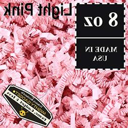 Mighty Gadget  1/2 LB Light Pink Crinkle Cut Paper Shred Fil