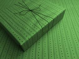 Lines & Dots on Green Gothic Wrapping Paper - up to 8 Feet o