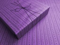 Lines & Dots on Purple Gothic Wrapping Paper -up to 8 Feet o