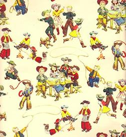 Little Buckaroos Western Heavy Gift Wrapping Paper -Two 30 I