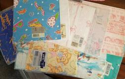 Lot of 10 Gift Wrapping Paper--7 All Occasion-1 Birthday-1 B