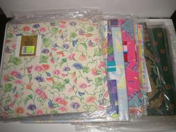 Lot of 26 Packages Gift Wrapping Paper Vintage Flat Wrap All