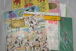 lot of 8 vintage wrapping paper baby