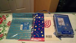 LOT OF HANUKKAH ITEMS, 2-BOXES CARDS, 1-PCK.WRAPPING PAPER &