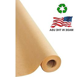 "Made in USA Brown Kraft Paper Jumbo Roll 17.75"" x 1200"""