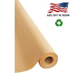 "Made in USA Brown Kraft Paper Jumbo Roll 30"" x 1200""  Ideal"