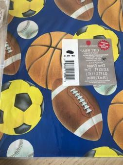 Masculine Gift Wrapping Paper w/Sports balls /Perfect Father