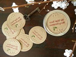 Merry Christmas, Canning Jar Lids, Stickers, Gifts in a Jar,
