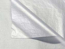 Metallic Silver Tissue Paper 20 Inch X 30 Inch - 48 Sheets