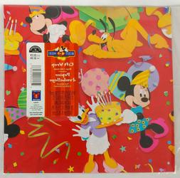 Mickey Mouse Kids Gift Wrap Wrapping Paper Birthday NIP 2 sh