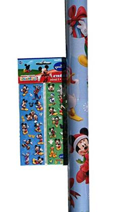 MICKEY MOUSE ~ Wrapping Paper & Stickers Set ~ Gift Wrap