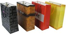 Pixel Mine Crafting Style Gift Bag 4-Pack, Four Fun Gift or