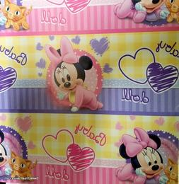 Minnie Baby Wrapping Paper Sheet Gift Book Cover Party 2PC B