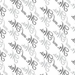 Mr. and Mrs. Wedding Black and White Premium Gift Wrap Wrapp