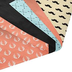 Mustaches, Arrows, Antlers Gift Wrapping Tissue Paper Set -